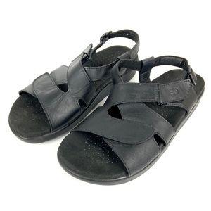 SAS Huggy Comfort Tripad Black Leather Sandals 8.5